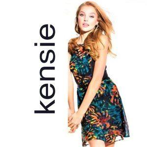 Kensie Tropical Palm Leaf Printed Dress
